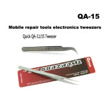 Quick QA-11 QA-15 straight curved tweezers mobile phone repair tool stainless steel sharp
