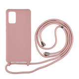 Samsung models silicone case with neck-hanging integrated rope Lanyard silicone phone case