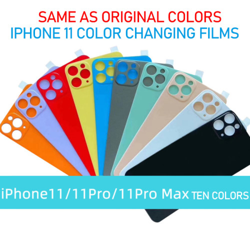 Original color flexible back film full cover protective film iPhone 11 color changing film for iPhone 11promax