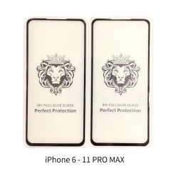 iPhone 6- 11pro max Lion head full cover tempered glass big arc explosion-proof protective film