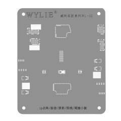 WL-02 iP Lattice/Face/Original Color/Cable/ Tail plug board Steel Mesh reballing stencil