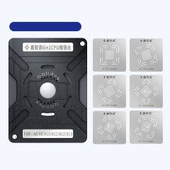 CPU tin planting station magnetic base + universal positioning plate + 6 steel mesh (A8-A13) + 10 blades 6in