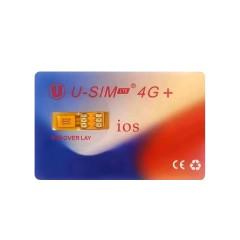 U-SIM 4G+ unlock card for iphone 6G - 12 pro max ios14