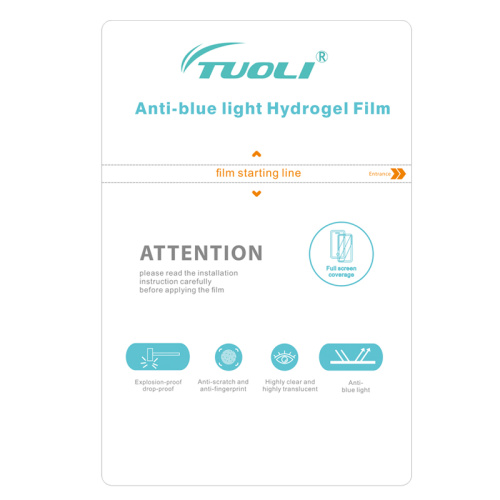 TUOLI TL-1812BS TL-3020BS TL-21 Anti-blue light Hydrogel TPU Film for phone tablet protector cutting machine 50pcs/box