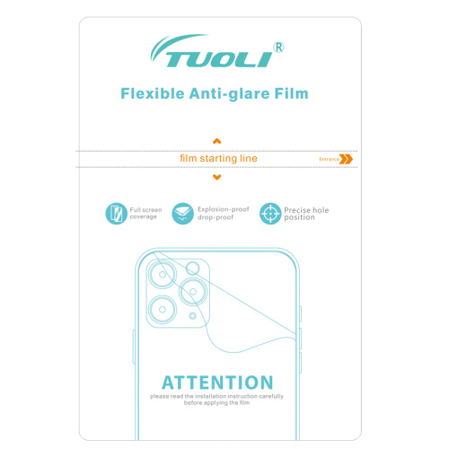 TUOLI TL-1812A Anti-glare Hydrogel TPU back Film  180*120MM  for phone tablet protector cutting machine 50pcs/box