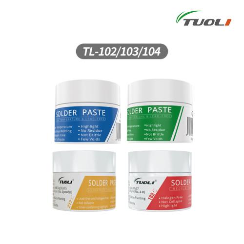 TUOLI TL-102/TL-103/TL-104/TL-106 China best solder paste performance like Alpha solder paste