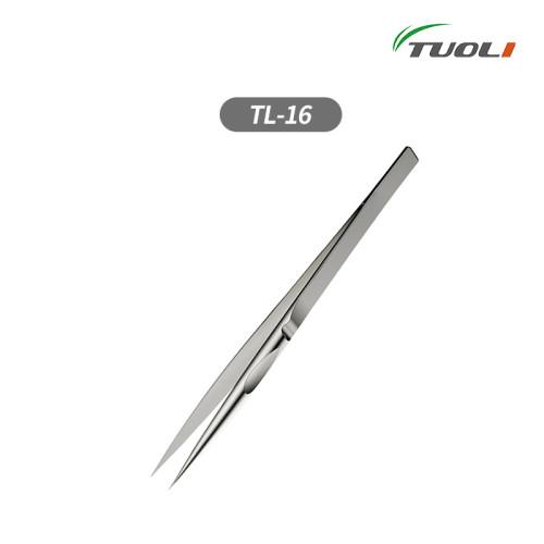 TUOLI TL-16 Titanium Alloy Ultralight iGreat Tweezer Handmade Polished Non-magnetic Stainless Tweezer