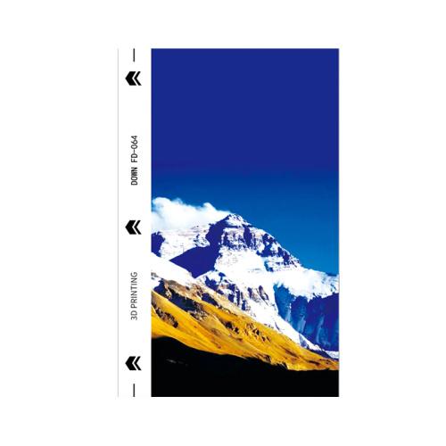 50pcs / pack Landscape Dream Series UV mobile phone back film