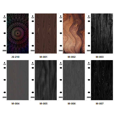 50pcs/ pack Floor texture series UV mobile phone back film