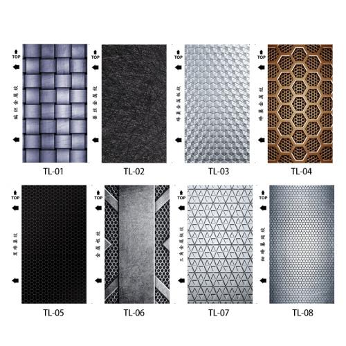 50pcs/ pack  Metal texture series UV mobile phone back film