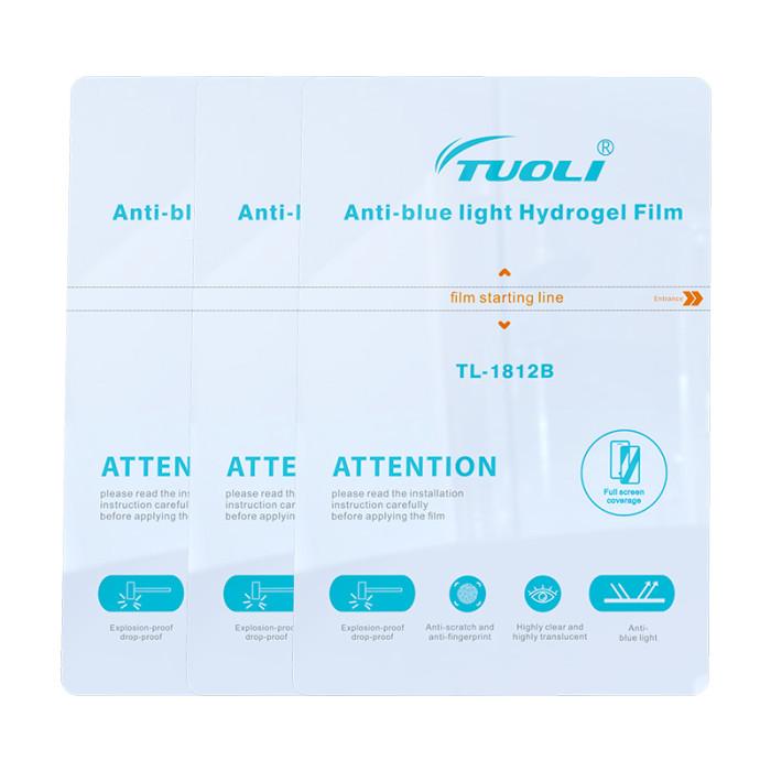 TUOLI Anti-blue light Hydrogel film 180*120MM diy for Screen Protector cutting machine Matte Hydrogel film