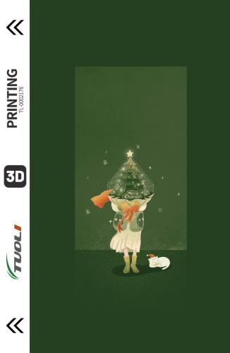 Christmas series 3D UV back film TL-0002176