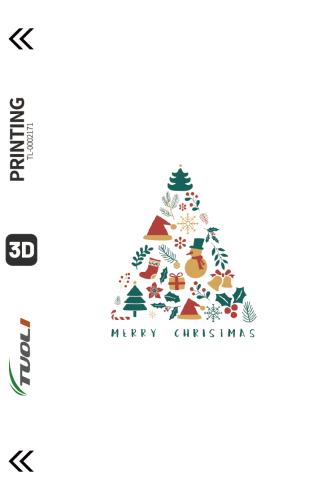 Christmas series 3D UV back film TL-0002171