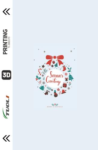 Christmas series 3D UV back film TL-0002173