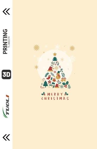 Christmas series 3D UV back film TL-0002174