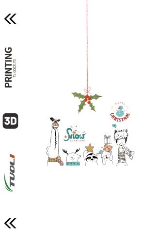 Christmas series 3D UV back film TL-0002170