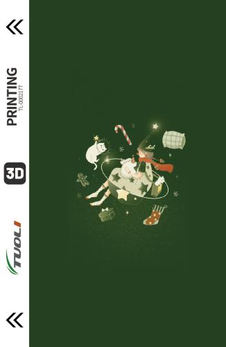 Christmas series 3D UV back film TL-0002177