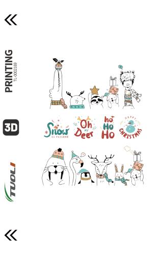 Christmas series 3D UV back film TL-0002169