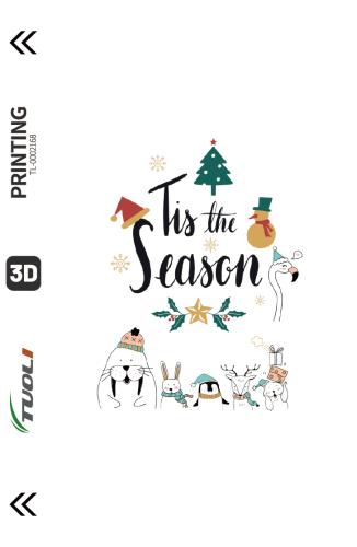 Christmas series 3D UV back film TL-0002168