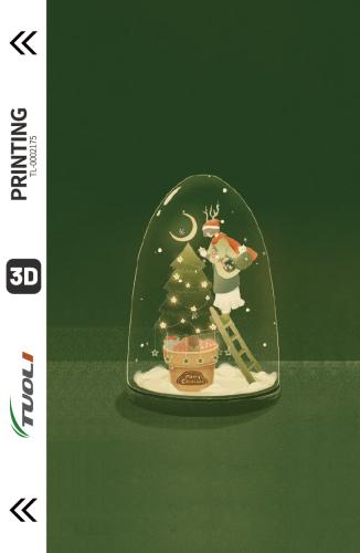 Christmas series 3D UV back film TL-0002175