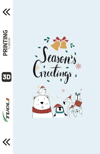 Christmas series 3D UV back film TL-0002166