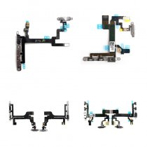 Power and Volume Button Flex Cable with Metal Bracket for Iphone XR 8P 8G 7P 7G 6S 5SE 5S 5C 5G