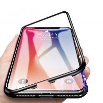 360  Metal Magnetic Case for iPhone XR XS MAX X 8 Plus 7 +Tempered Glass Back Magnet Cases Cover for iPhone 7 6 6S Plus Case