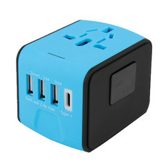 4 USB multi-function conversion plug with type c travel adapter Used globally