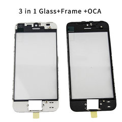 Orignal 3 in 1 Cold Pressed Glass+Frame+OCA For iPhone5G 5C 5S 6G 6Plus 7G 7Plus 8G 8Plus