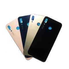 10pcs / lot high quality for Huawei Nova 3e P20 Lite battery cover back door shell with adhesive label