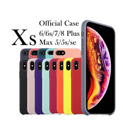 1:1 Original Official Silicone Case Phone Silicon Cover For iPhone X 6s 6 Plus 5s 5 SE