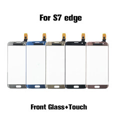 LCD Touch Screen Digitizer Panel Front Glass with flex cable Replacement For samsung S7 edge
