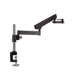 Professional Trinocular Stereo Zoom Microscope, , Ambient Lighting, Clamping Articulating Arm Stand, Includes 0.5X Barlow Lens