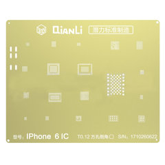 QIANLI Newest 3D BGA Gold Stencil For iPhone 6, 6S, 7, 8 ,CPU