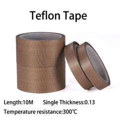 High temperature adhesive teflon tape 10 meter*0.13mm 10M
