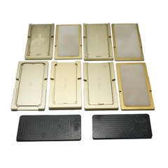 Metal alignment Mold jig oca laminate mould with Silicone Pad Mat Tools For refurbish Samsung S6 / S6 Edge/S6 Edge Plus/S7 E S8 S8+ S9 S9+  Note8