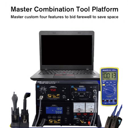 MECHANIC T10 4in1 SMD Rework Tools Soldering Stations Hot Air Gun Power Supply Multimeter For Motherboard Chips Repair