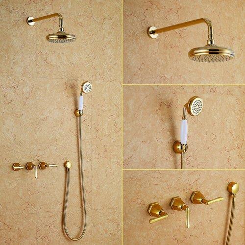 Bathroom Concealed Luxury Rain Mixer Shower Combo Set Wall