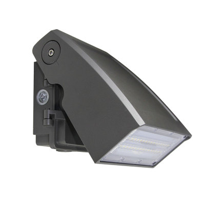 30W Adjustable LED Wall Pack With Photocell - 3600lm - 100-277VAC - 150W MH/HPS/HID Equivalent - 5000K