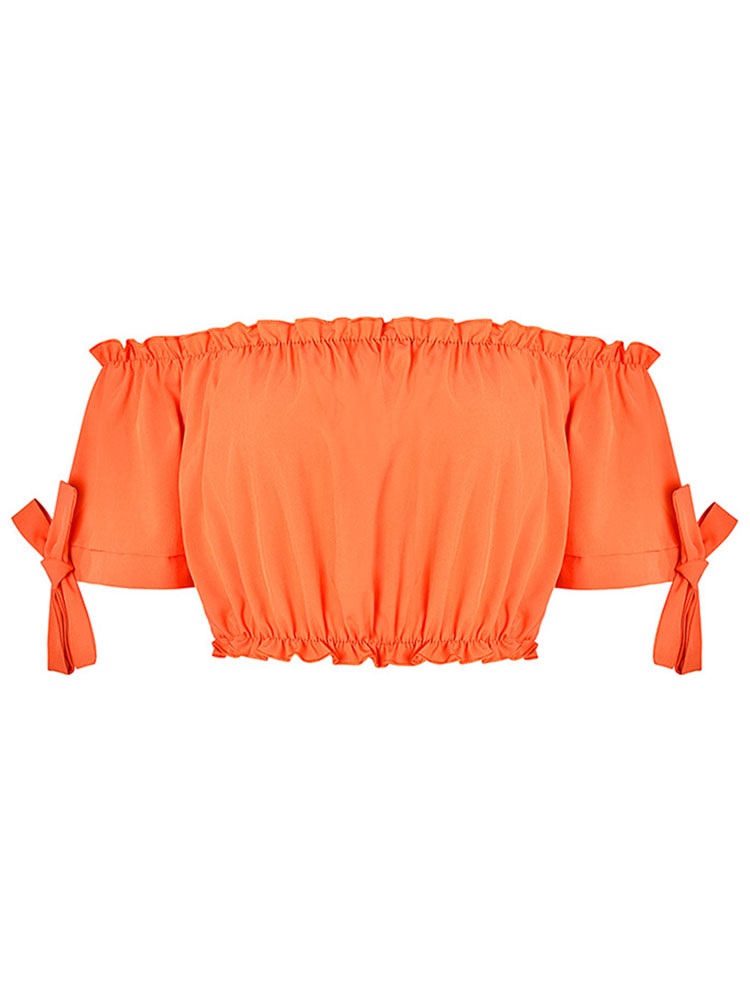 ZISION Ruffles Off Shoulder Top