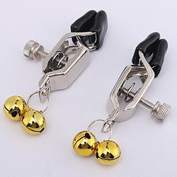 Metal Bells Nipple Clamps Labial Clips Nipple Stimulators