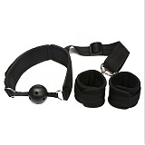 Adult Hand Cuffs Strap Anti-cuff With Mouth Ball Kit