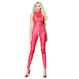 Stretch Open Chest Locomotive Jumpsuit