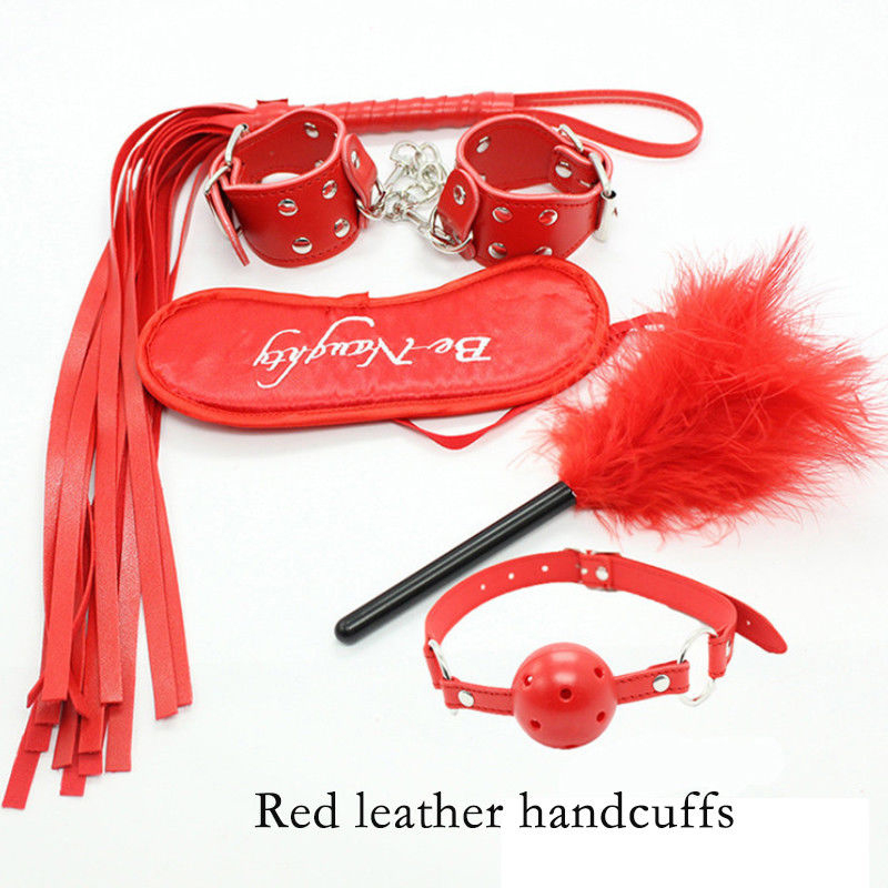 5pcs SM Bondage Restraints Set Kit-Red