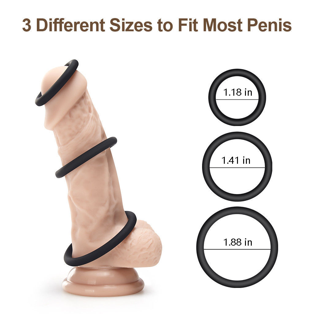 Silicone Penis Ring Triple Cock Ring