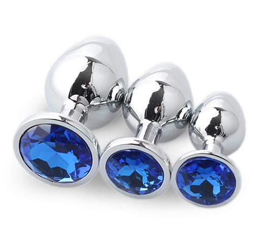 3 x Diamond Butt Plug Anal Plug