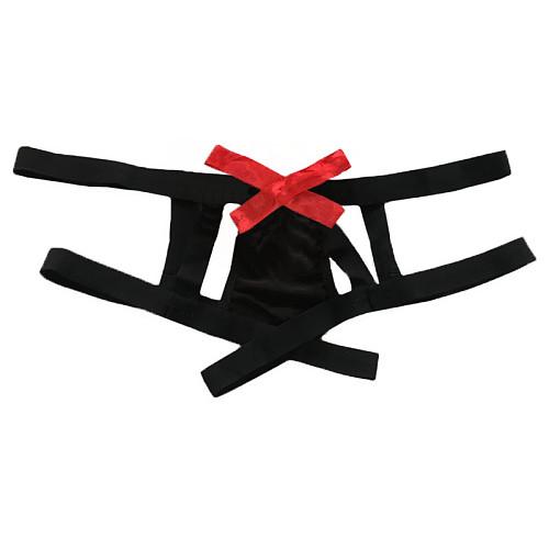 Bow Tie Straps Hollow Sexy Panties