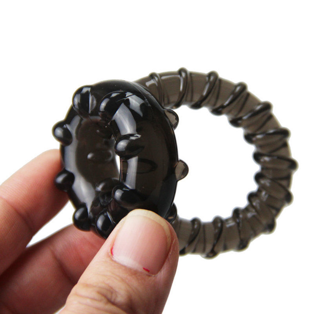 Black Delay Ejaculation Penis Ring