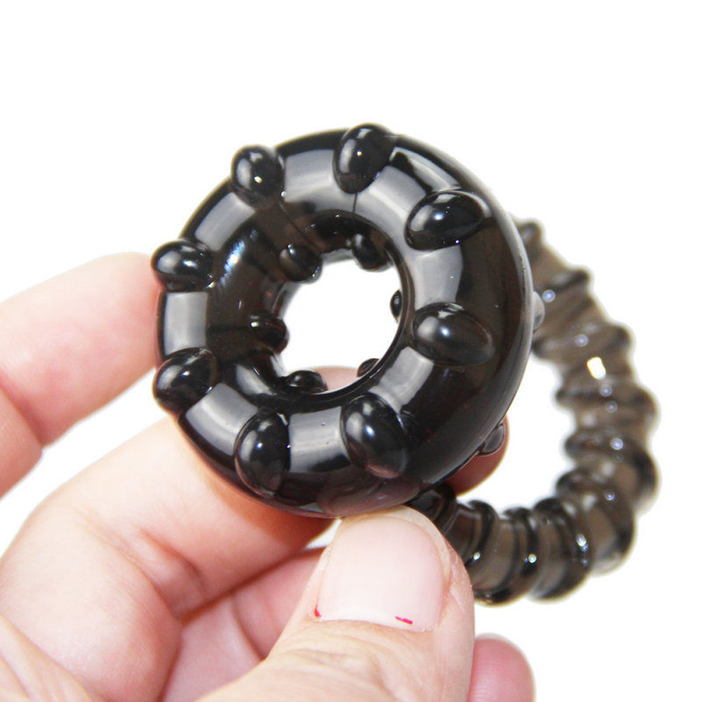 Dual Cock Ring Dual Cock Ring Delay Black