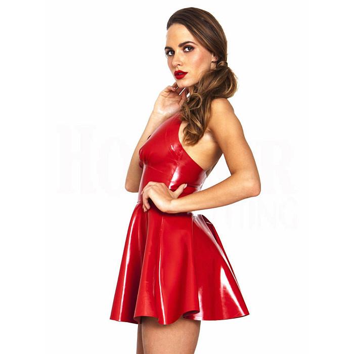 Patent Leather Skirt Sexy Night
